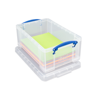 RUB 9L clear storage box with lid £4.99 icon