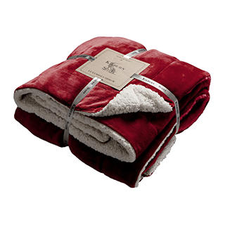 Sherpa Throw 152 x 177cm Red