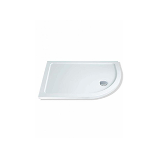 1200 x 900mm Low Profile Offset Quadrant Shower Tray & Waste - Right & Left
