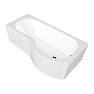 P Shaped 1700mm Acrylic Bath Front Panel