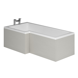 L Shaped 1700mm Acrylic Bath Front Panel