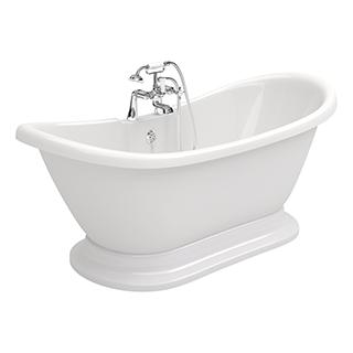 Grace Freestanding 1700mm 2TH (Bath & Plinth)