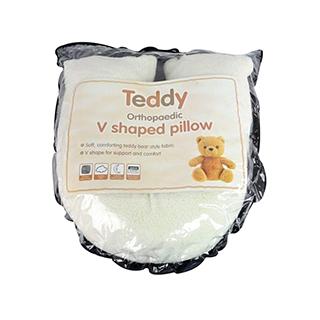 Fluffy Teddy V Shape Pillow