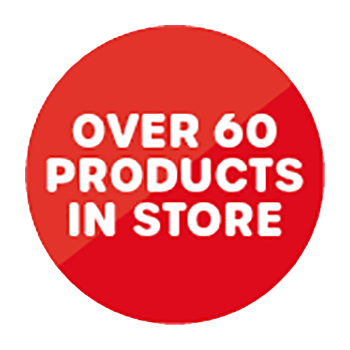 Over 60 products in store