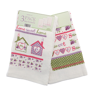 home sweet home tea towels