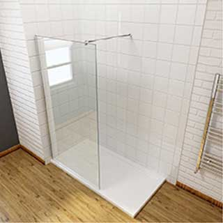8mm Wetroom Screen & Bar (800-785mm)