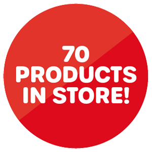 over 130 products in store