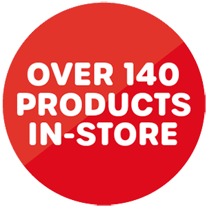 Over 140 products in store roundel