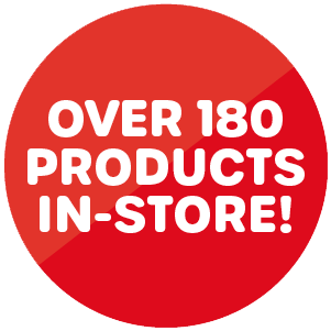 Over 180 products
