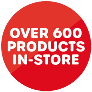 Over 600 products