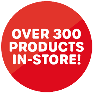 Over 300 products