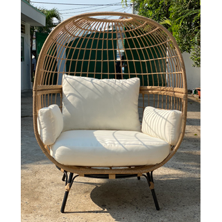 Cocoon Love Chair - natural rattan