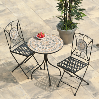 Algiers mosaic bistro set - includes 60cm table and 2 chairs