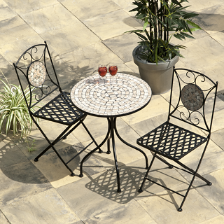 Casablanca mosaic bistro set - includes 60cm table and 2 chairs.