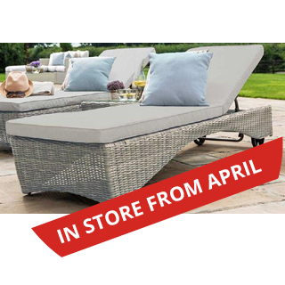 Oxford 3 piece rattan Sunlounger set - includes 2 sunloungers & coffee table