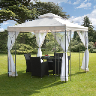 Polenza cream gazebo with nets 2.5m
