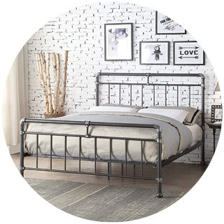 Cilcain Silver Metal Bed 4'6